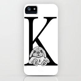 K letter iPhone Case