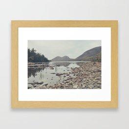 jordan pond Framed Art Print