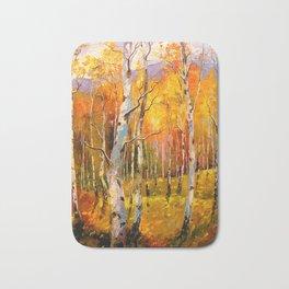 Birch trees Bath Mat