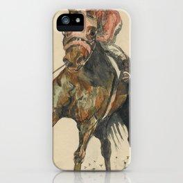 Racehorse Watercolor iPhone Case
