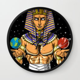 Space Egyptian Pharaoh God Wall Clock