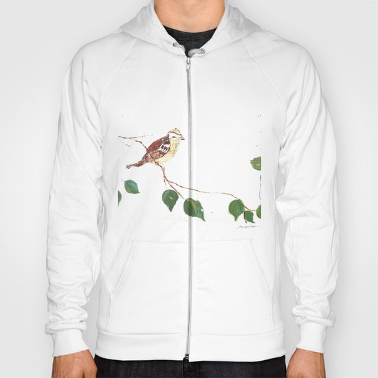 Bird painted on wood Hoody