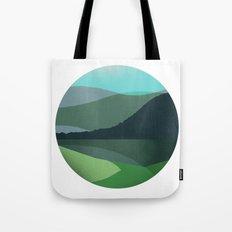 Green Marble Landscape Tote Bag