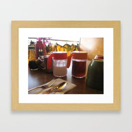 Hawaiian Diner Breakfast Framed Art Print
