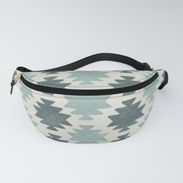 Southwestern pattern Aqua Fanny Pack