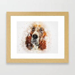 Basset Hound (Abstract Dog) Framed Art Print