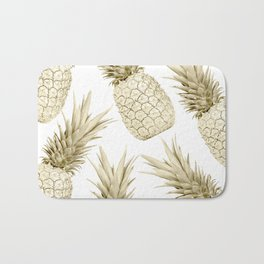 Gold Pineapple Bling Bath Mat
