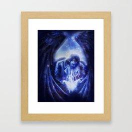 Angel in Blue Framed Art Print