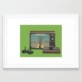 Space Invaders II Framed Art Print