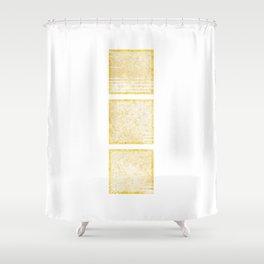 Three Golden Squares Shower Curtain