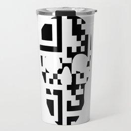 QR-Code Skull Travel Mug
