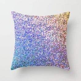 Glitter Rainbow Throw Pillow