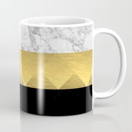 Stacked - gold foil black and marble cell phone case golden urban minimal retro modern city hipster  Coffee Mug