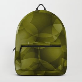 Dark intersecting translucent olive circles in bright colors with an oily glow. Backpack