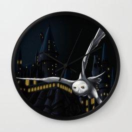 Hedwig's flight at Night Wall Clock