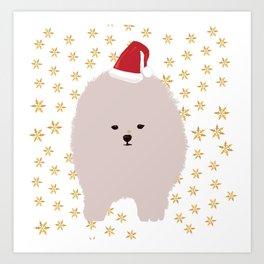 Happy Holidays Fluffy Art Print