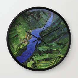 Moselle River Wall Clock