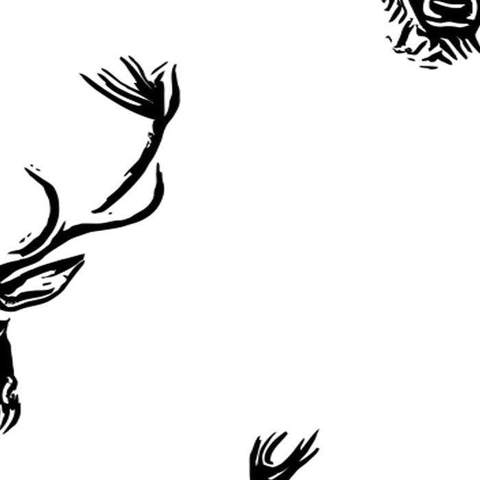 Christmas Deer Stag Antler Pattern Leggings