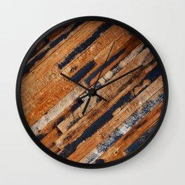 Reclaimed Repurposed Wood Wall Wall Clock