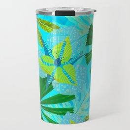 My blue abstract Aloha Tropical Jungle Garden Travel Mug
