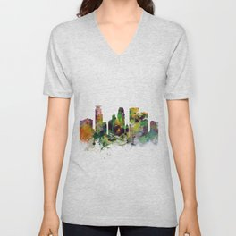 Minneapolis Minnesota Skyline Unisex V-Neck