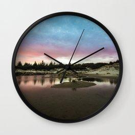 Oregon Dunes Sunset Wall Clock