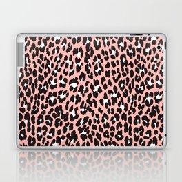 Blush pink black white abstract cheetah animal print Laptop & iPad Skin