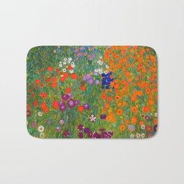 Flower Garden Bauerngarten Klimt Garden Floral Oil Painting Bath Mat