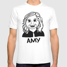 Amy Poehler Mens Fitted Tee MEDIUM White