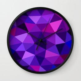 Crystal Galaxy Low Poly Wall Clock