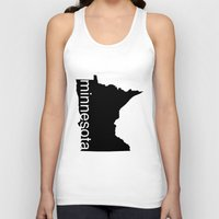 minnesota Tank Tops featuring Minnesota by Isabel Moreno-Garcia