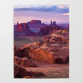 Monument Valley from Hunts Mesa Arizona Sunrise Poster