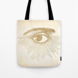 I See You. Vintage Gold Antique Paper Tote Bag
