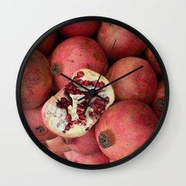 Pomegranate Party Wall Clock