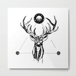 My Deer is My Grave Metal Print
