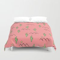 cacti Duvet Covers featuring Cacti by Calepotts