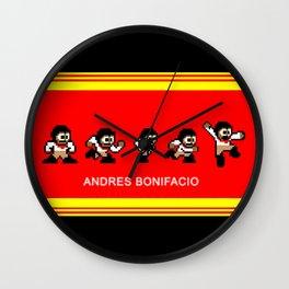 8-bit Andres 5 pose v2 Wall Clock
