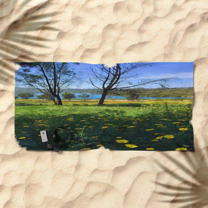 Springtime Comes to Lake Murray, La Mesa, CA Beach Towel