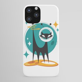 Atomic Space Cat Mid Century Modern Art Scooter iPhone Case