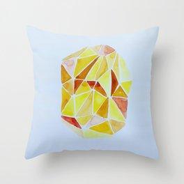 cuarzo amarillo grande Throw Pillow