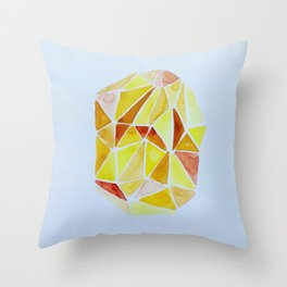 cuarzo amarillo grande Throw Pillow