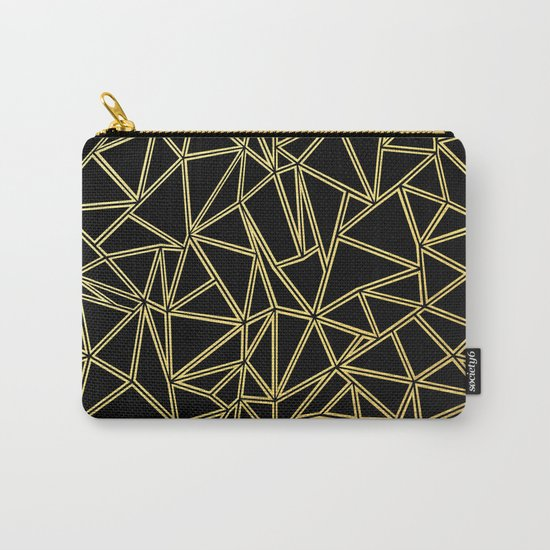 Abstract Blocks Gold Carry-All Pouch