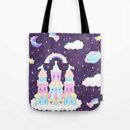 Dreamy Cute Space Castle Tote Bag