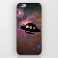 ufo iPhone & iPod Skins featuring UFO by Ace of Spades