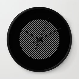Tilt - Black and White Minimalism Abstract Wall Clock
