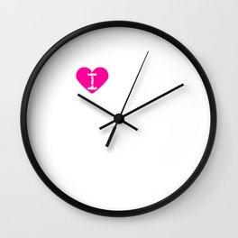 I Heart Cosmos   Love Cosmos - Love Flower, Asteraceae Wall Clock