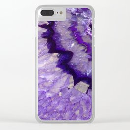 Purple Crystal Clear iPhone Case