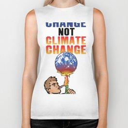 System Change not Climate Change Biker Tank
