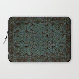Forest Green Delitcate Flowers Pattern Laptop Sleeve
