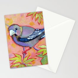 Evening Grosbeak Female Stationery Cards